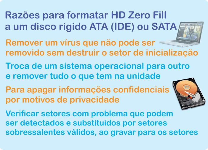Formatação HD zero fill